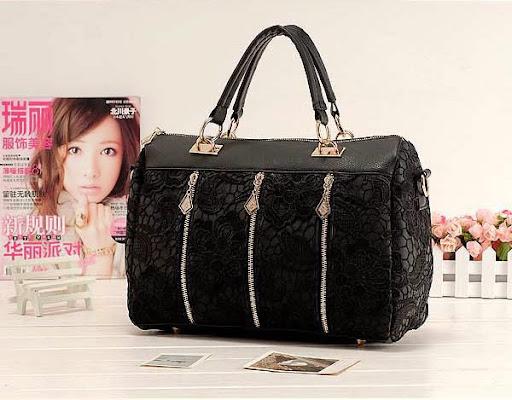 Brand fashion women handbags Lace Leather Satchel Tote
